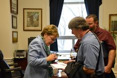 Marcy Kaptur with Michel Caldwell and Brian Goff