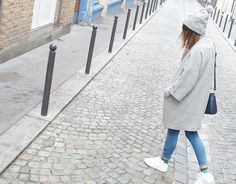 """Audrey, blogger from """"azzed"""" wearing Promod coat"""
