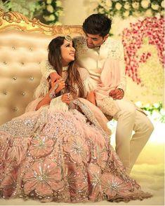 Lehenga For Brides Indian Bridal Lehenga, Indian Bridal Outfits, Pakistani Bridal, Bridal Dresses, Indian Dresses, Pink Bridal Lehenga, Wedding Lehnga, Wedding Couple Poses Photography, Indian Wedding Photography