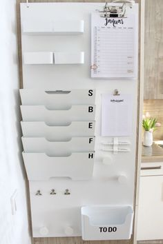 EmmaBee DIY Command-Center Home Office Organization, Home Office Decor, Diy Home Decor, Room Decor, Organization Ideas, Ikea Decor, Diy Decoration, Computer Desk Organization, Organization Station