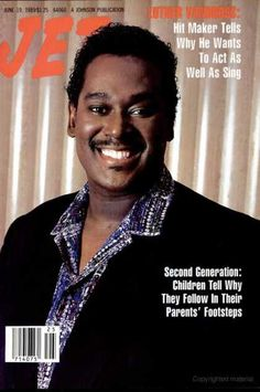 A cover gallery for Jet Jet Magazine, Black Magazine, Life Magazine, Ebony Magazine Cover, Magazine Covers, Luther Vandross, Essence Magazine, Vintage Black Glamour, Black History Facts