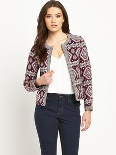 V by Very Jacquard Trophy Jacket Instantly lift your look to statement level…