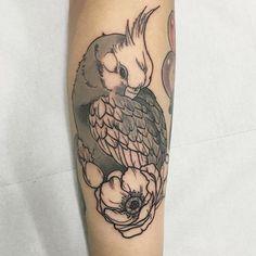 Cockatiel tattoo