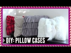 These NO-SEW DIY Pillowcases Could NOT Be Easier! - http://www.wisediy.com/these-no-sew-diy-pillowcases-could-not-be-easier/