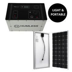HUMLESS 1500 SERIES - with 100 Watt Solar Panel KIT