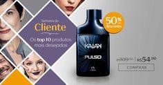 Compre na Rede Natura o desodorante colônia Kaiak Pulso masculino com 50% OFF. Promoção válida de 12 a 18/set ou enquanto durarem os estoques.  Semana do Cliente  Por tempo limitado. Aproveite!