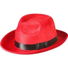 Amazon.com: Adult Red Fedora Costume Hat: Clothing