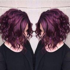 "Was ist die neue Trend-Haarfarbe ""Pagenta""? What is the new trend hair color ""Pagenta"" ? Plum Hair, Burgundy Hair, Red Purple Hair, Purple Haze, Black Hair, Pretty Hairstyles, Bob Hairstyles, Easy Hairstyle, Latest Hairstyles"