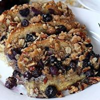 Blueberry Streusel French Toast by -