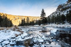 The Crooked River in winter. Terrebonne, Oregon -------- @malcolmloweryphoto