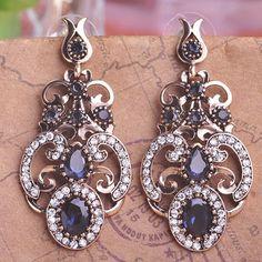 "Emerald Green Resin Vintage Earrings Bijoux Turkish Flower Drop Earring Max Brincos Grandes Metal Alloy Antiuqe Ear Accessories – <a href=""http://jewelryabo.com"" rel=""nofollow"" target=""_blank"">jewelryabo.com</a>"