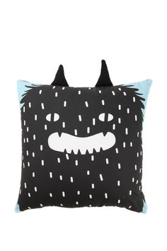 Who said monsters need to be scary? Our wild thing cushion will be everyone's little monster friend. His horns are perfect for dragging around and his large size gives your little wild thing perfect place to rest! 35cm x 35cm 100% cotton outer