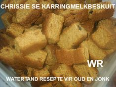 BESKUIT My Recipes, Bread Recipes, Recipies, Cooking Recipes, South African Dishes, South African Recipes, Rusk Recipe, Crispy Cheddar Chicken, All Bran