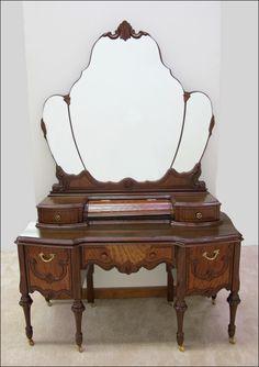 Depression Era Vanity Dressing Table Tables Victorian Furniture Vintage