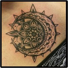 49 Ideas tattoo moon mandala crescent for 2020 Moon Sun Tattoo, Sun Tattoos, Tattoos Skull, Wrist Tattoos, Trendy Tattoos, Foot Tattoos, Body Art Tattoos, Small Tattoos, Sleeve Tattoos