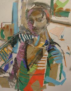 Богомолова Ольга. Портрет. 2017. Смешанная техника. 52х42
