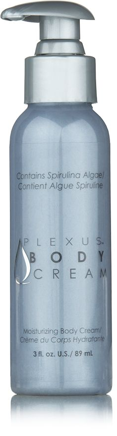Combat Environmental Abuse. Plexus Body Cream is uniquely designed to help fight environmental factors affecting the skin with Spirulina Algae and Activated Charcoal. My note: Check somewhere else for a better price.
