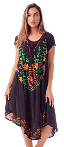 0d3b4876a9 Riviera Sun Short Sleeve Umbrella Dresses for Women 21854-BLK-S Black –  Videos.Images.Pictures