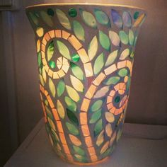 Vine Mosaic Hurricane and Tealight Tree #PartyLite #candles. Justinewindow.partylite.co.uk
