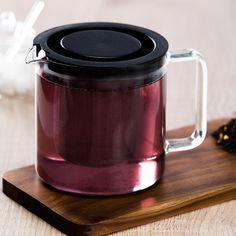 Teekanne mit Metallsieb, 1,3l, klar, klar