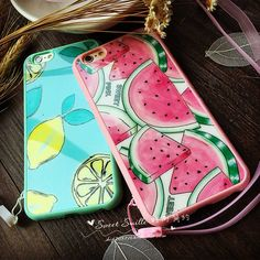 Soft Silicon Phone Case Cover for iPhone 5 5s SE 6 6s Plus Fundas Luxury Watermelon Lemon Mirror Case For iphone 6S Phone Shell