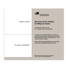Lançamento dos exclusivos livros de poemas de Willys de Castro (2013).