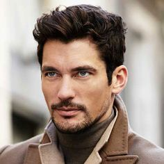 Oh, gods-of-all-things-beautiful-especially-David Gandy, may I just tell you that he leaves me speechless at times. Thanks be to the gods-of-all-things-beautiful-and-sexy! Mens Hairstyles Widows Peak, Trendy Mens Hairstyles, Business Hairstyles, Haircuts For Men, Layered Haircuts, Men's Hairstyles, Sharp Dressed Man, Well Dressed Men, Fashion Moda