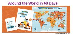 Around the World in 60 Days Printable Educational Road Trip around the World!