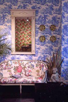 Cole & Son Folie Wallpaper Collection Villandry Interior Decor Toile