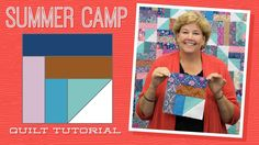 Summer Camp   :::   I absolutely love it when you look at a block and think .. I'm not so sure about this ... and then when she puts it all together and you're WOWED!  LOVE the pattern in this one!