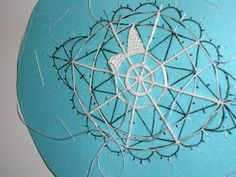 pattern and tutorial - needle lace Bead Embroidery Patterns, Lace Patterns, Beaded Embroidery, Embroidery Stitches, Needle Lace, Bobbin Lace, Irish Crochet, Crochet Lace, Bruges Lace