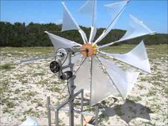 folding wind turbine(折り畳み式風力発電機のたたき台です) - YouTube