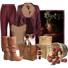 Apple Picking!!! Jacket by sisilem on Polyvore featuring Tara Jarmon, Marc Jacobs, STELLA McCARTNEY, Charlotte Russe, Burberry and Armani Exchange