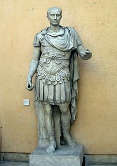 Roman Statue of Julius Caesar as imperator, wearing lorica (cuirass) and…