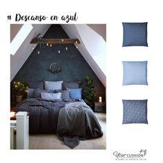 ¿Sabías que el color de tu decoración puede influir en tu descanso? El color azul 💙 suele asociarse con la calma y la tranquilidad, por eso es ideal para espacios en los que buscas paz y relajación como el dormitorio.  Empieza a descansar más y mejor con la comodidad garantizada de nuestros cojines a medida. Entra en la web y personaliza los cojines a medida de tu dormitorio 💤 con las telas azules que más te gusten 😍  #cojinespersonalizados #cojinamedida #classicblue #interiorismo
