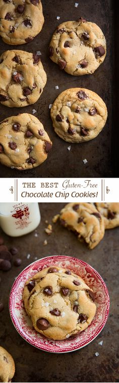 Gluten-Free Chocolate Chip Cookies {The Best!}