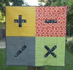 Simple math quilt by the quilted fox