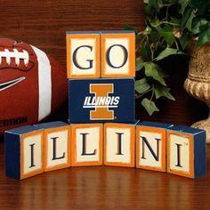 Illinois Fighting Illini Wooden Block Set