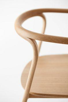 Splinter chair by Nendo, detail
