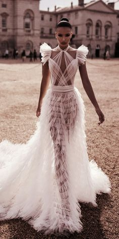 Wedding Dress wedding dresses fall 2019 sexy ruffled skirt with cap sleeves lior charchy - Fall 2019 Bridal Fashion Week is finally open. Many famous designers showcased their bridal collection. We want to show the best wedding dresses fall Wedding Dress Trends, Fall Wedding Dresses, Bridal Dresses, Prom Dresses, Sheer Wedding Dress, Wedding Ideas, Lace Wedding, Wedding Skirt, Couture Wedding Gowns