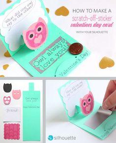 Scratch Off Sticker Paper Valentines