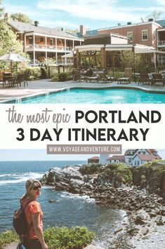 The Most Epic Portland 3 Day Itinerary. The best things to do in Portland Maine in 3 days. If you haven't visited the Portland Maine area yet, it's time to put it on your destination list. Portland has delicious foods, amazing history and lots of activities for adventure seekers. Portland is perfect for a long weekend destination or an extended vacation getaway! | Portland Itinerary | New England Itinerary | new England Road Trip | Maine Itinerary | best things to do in Maine | Us Destinations, Travel Usa, Travel Tips, Travel Guides, Oregon Travel, United States Travel, Beautiful Places To Visit, Best Cities, Weekend Getaways