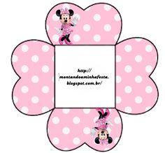 Montando a minha festa: Minnie rosa e preto