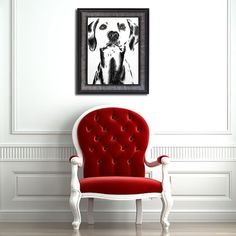 Wouldn't this chic black and white print look AMAZING in your living room? That Dalmatian looks great and he knows it! See more animal art prints @ ArtistryByLisaMarie.etsy.com