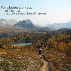 Motivational Fitness Quotes :I ♥ trail running - Quotes Daily Running Quotes, Running Motivation, Fitness Motivation, Hiking Quotes, Fitness Fun, Fitness Quotes, Keep Running, Running Tips, Trail Running
