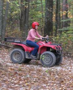 Even the Ladies like to drive ATVs