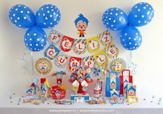 Kits imprimibles Plim Plim Circus Birthday, Circus Party, Baby Birthday, Second Birthday Ideas, Baby Shawer, Ideas Para Fiestas, Christmas Baby, First Birthdays, Balloons