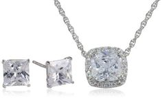 Sterling Silver Cubic Zirconia Cushio... $49.00 #topseller