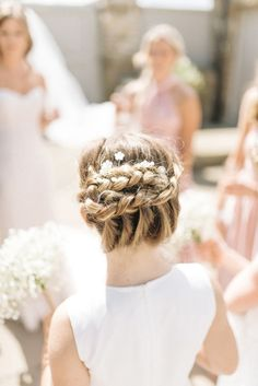bridal hairstyle braid http://itgirlweddings.com/english-countryside-wedding/