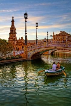 Colorful Bridge in Plaza De España, Sevilla Spain